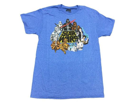 Star Wars Group Logo Darth Vader Luke Leia Han Solo Chewwy R2D2 Men's T Shirt - tshirtconnect