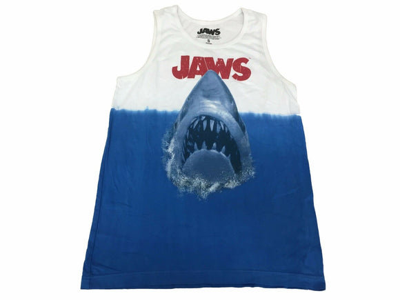 Jaws Movie Poster Deep Blue Sea Giant Shark Attack Men's Tank Top - tshirtconnect