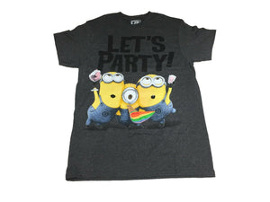 Despicable Me Minion Let's Party Funny Movie Men's T Shirt Small - tshirtconnect