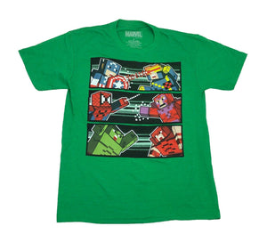 Marvel Avengers Men's T Shirt X Men 8 Bit Battle Cyclops Hulk Magneto - tshirtconnect