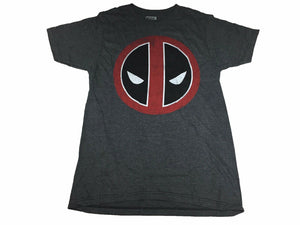 Marvel Comics Deadpool Icon Face Distressed Retro Logo Men's T Shirt - tshirtconnect