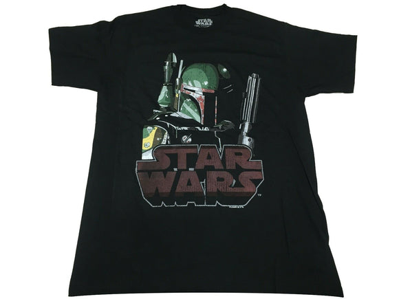 Star Wars Boba Fett Bounty Hunter With Logo Men's T Shirt - tshirtconnect