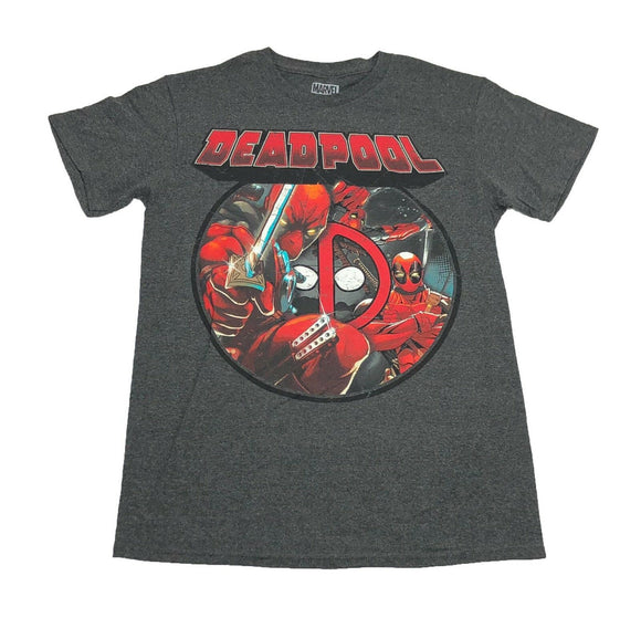 Marvel Comics Deadpool Triple Threat Logo Men's T Shirt - tshirtconnect