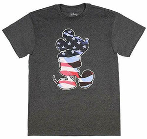 Disney Mickey Mouse Waving Flag Fill Men's T Shirt - tshirtconnect