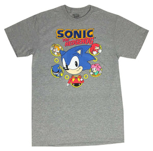 Sonic The Hedgehog Group Shot Men's T Shirt Tails Knuckles Eggman Shadow Amy - tshirtconnect