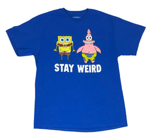 Nickelodeon Men's T Shirt Spongebob Squarepants Patrick Star Stay Weird - tshirtconnect