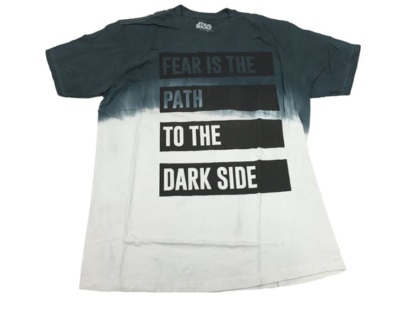 Star Wars Men's Shirt Fear Is The Path To The Dark Side Graphic Movie Tee - tshirtconnect