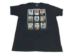 Star Wars Men's T Shirt Yearbook Pictures Han Solo Chewbacca & More - tshirtconnect