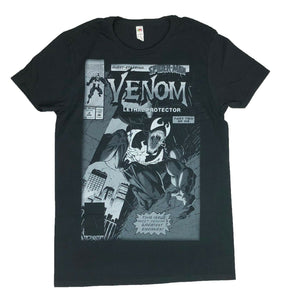 Marvel Comics Venom Men's T Shirt Lethal Protector Comic Book Cover Graphic Tee - tshirtconnect