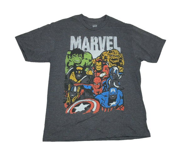 Marvel Men's T Shirt X Men Avengers Fantastic Four Wolverine Thing Iron Man Hulk - tshirtconnect
