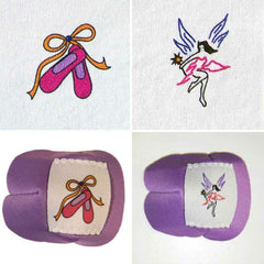 Eye Patches with Ballet and Fairy design. Made by Patch Works FLP.