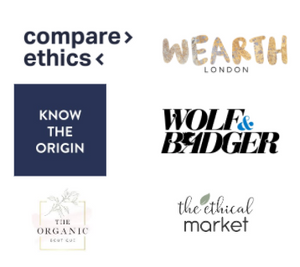 We're proud to be featured on some of the largest ethical marketplaces in the world alongside some amazing sustainable brands. Wolf & Badger, Wearth, Compare Ethics and Know The Origin are some of our proud partners.