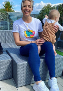Gemma Atkinson is another of our sustainable celebrity supporters and can be seen regularly sporting our ethical garments. With 100% organic cotton and all profits funding social enterprises, what's not to love?
