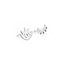 Eco-Silver 'Wink' Stud Earrings