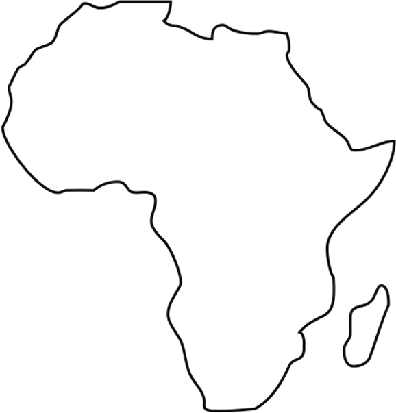 Map of Africa showing location of Origin Africa projects