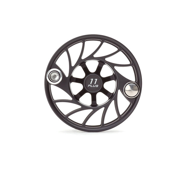 Hatch Finatic Gen 2 11 Plus Extra Spool with Black body and SilverPaint Fill, Mid Arbor