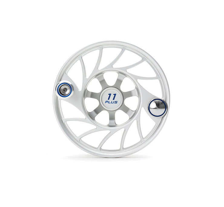 Hatch Finatic Gen 2 11 Plus Extra Spool with Clear body and Blue Paint Fill, Mid Arbor