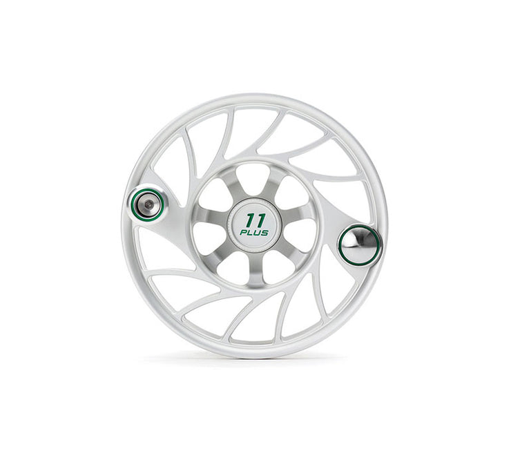 Hatch Finatic Gen 2 11 Plus Extra Spool with Clear body and Green Paint Fill, Mid Arbor