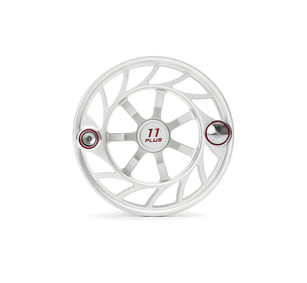 Hatch Finatic Gen 2 11 Plus Extra Spool with Clear body and Red Paint Fill, Large Arbor