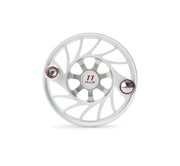 Hatch Finatic Gen 2 11 Plus Extra Spool with Clear body and Red Paint Fill, Mid Arbor