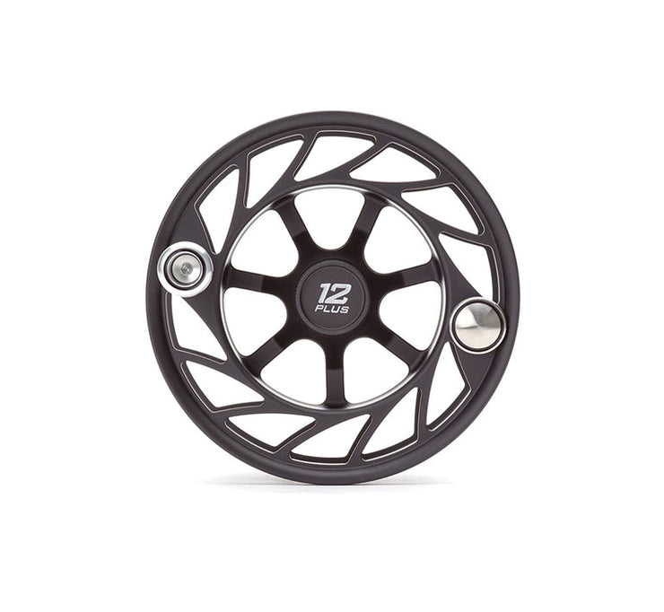 Hatch Finatic Gen 2 12 Plus Extra Spool with Black body and Silver Paint Fill, Large Arbor