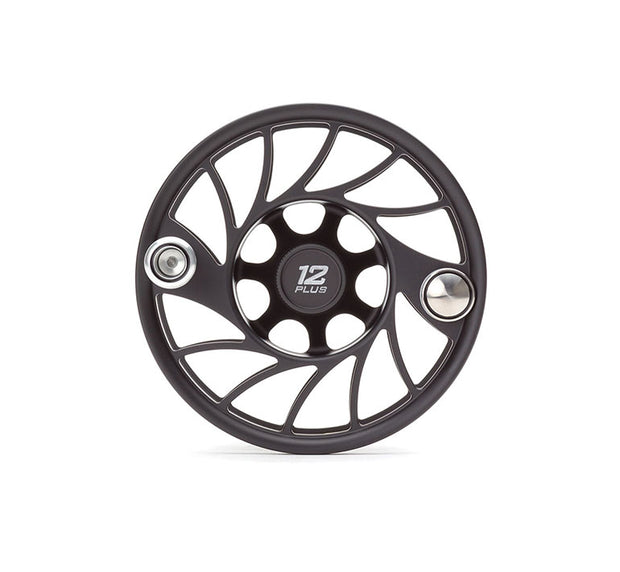 Hatch Finatic Gen 2 12 Plus Extra Spool with Black body and Silver Paint Fill, Mid Arbor