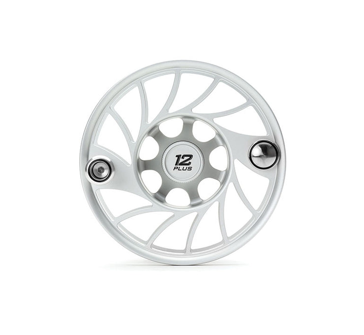 Hatch Finatic Gen 2 12 Plus Extra Spool with Clear body and Black Paint Fill, Mid Arbor
