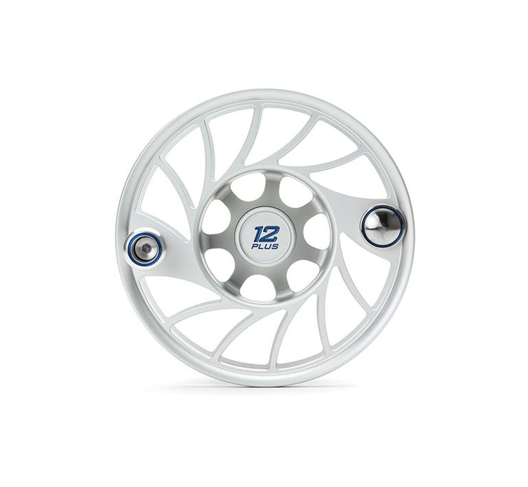 Hatch Finatic Gen 2 12 Plus Extra Spool with Clear body and Blue Paint Fill, Mid Arbor