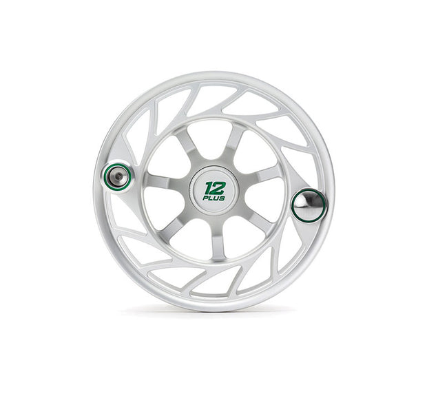 Hatch Finatic Gen 2 12 Plus Extra Spool with Clear body and Green Paint Fill, Large Arbor