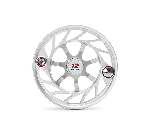 Hatch Finatic Gen 2 12 Plus Extra Spool with Clear body and Red Paint Fill, Large Arbor