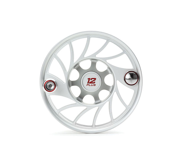 Hatch Finatic Gen 2 12 Plus Extra Spool with Clear body and Red Paint Fill, Mid Arbor