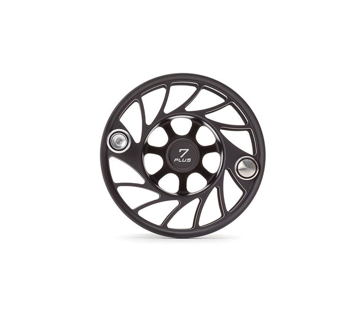 Hatch 7 Plus Gen 2 Finatic Black Silver Mid Arbor Extra Spool