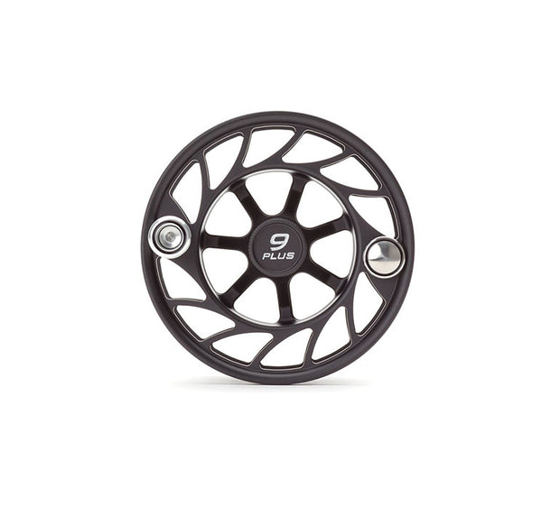 Hatch Finatic Gen 2 9 Plus Extra Spool with Black body and Silver Paint Fill, Large Arbor