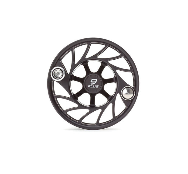 Hatch Finatic Gen 2 9 Plus Extra Spool with Black body and SilverPaint Fill, Mid Arbor