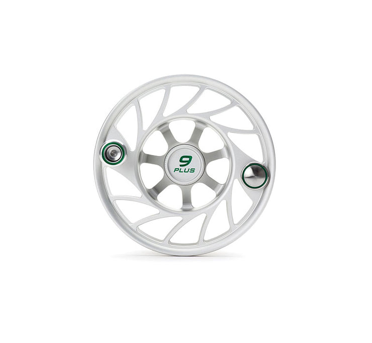 Hatch Finatic Gen 2 9 Plus Extra Spool with Clear body and Green Paint Fill, Mid Arbor