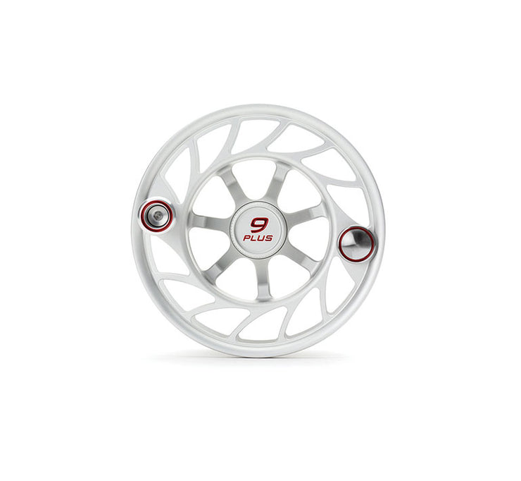 Hatch Finatic Gen 2 9 Plus Extra Spool with Clear body and Red Paint Fill, Large Arbor