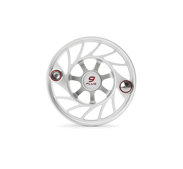 Hatch Finatic Gen 2 9 Plus Extra Spool with Clear body and Red Paint Fill, Mid Arbor