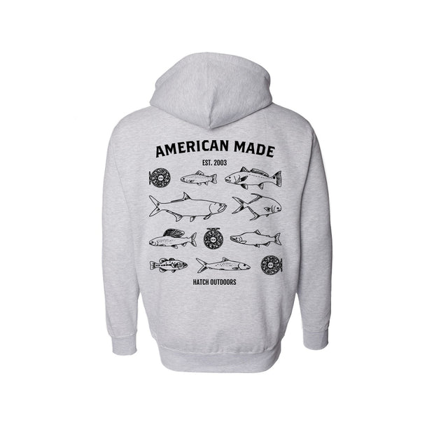 American Made Zip Up Hoodie