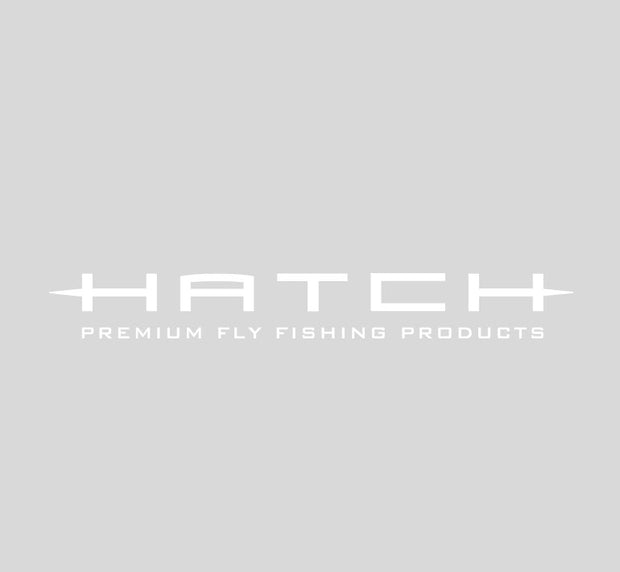 "<img src=""HatchBoatSticker20_White.jpg"" alt=""white 20 inch sticker reading Hatch Premium Fly Fishing Products on a grey background"">"