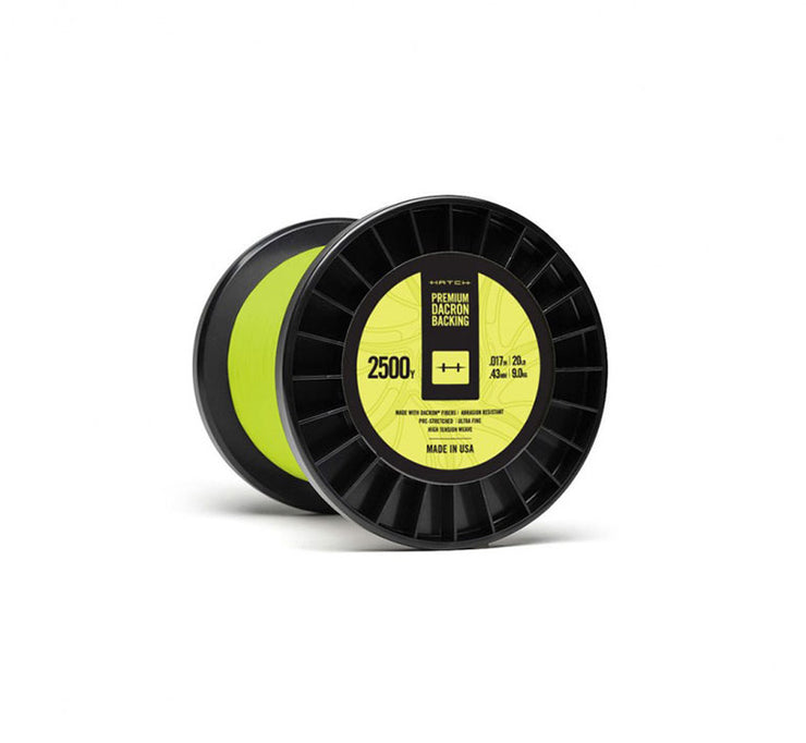 Hatch Yellow Dacron Backing, 20LB Weight, 2500YD Length