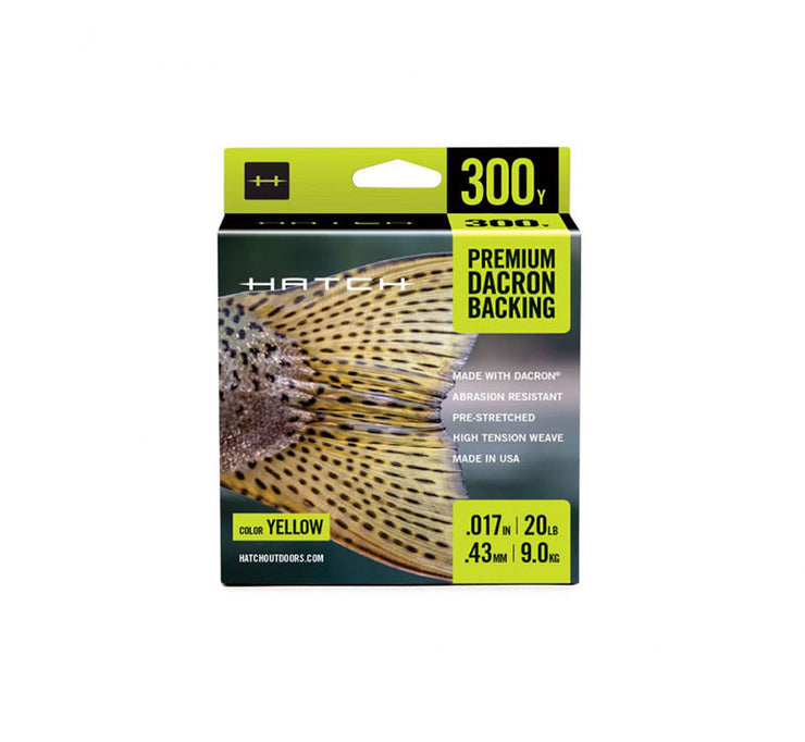 Hatch Yellow Dacron Backing, 20LB Weight, 300YD Length