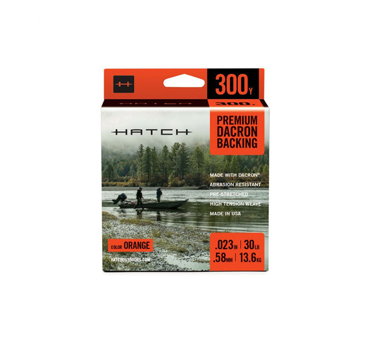 Hatch Orange Dacron Backing, 30LB Weight, 300YD Length