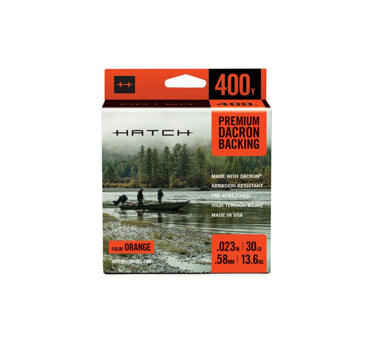 Hatch Orange Dacron Backing, 30LB Weight, 400YD Length