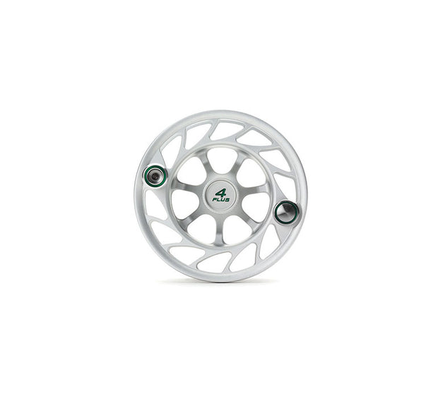 Hatch Finatic Gen 2 4 Plus Extra Spool with Clear body and Green Paint Fill, Large Arbor