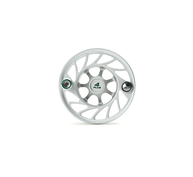 Hatch Finatic Gen 2 4 Plus Extra Spool with Clear body and Green Paint Fill, Mid Arbor