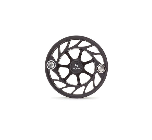 Hatch Finatic Gen 2 5 Plus Extra Spool with Black body and Silver Paint Fill, Large Arbor