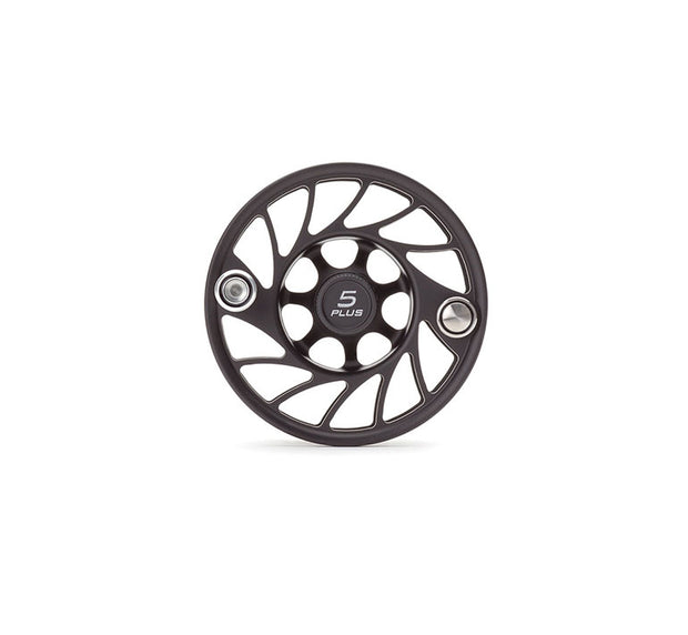 Hatch Finatic Gen 2 5 Plus Extra Spool with Black body and Silver Paint Fill, Mid Arbor