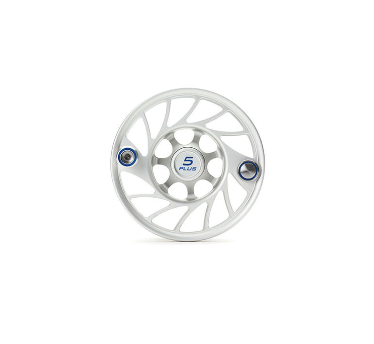Hatch Finatic Gen 2 5 Plus Extra Spool with Clear body and Blue Paint Fill, Mid Arbor