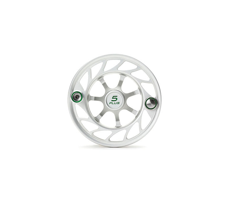 Hatch Finatic Gen 2 5 Plus Extra Spool with Clear body and Green Paint Fill, Large Arbor