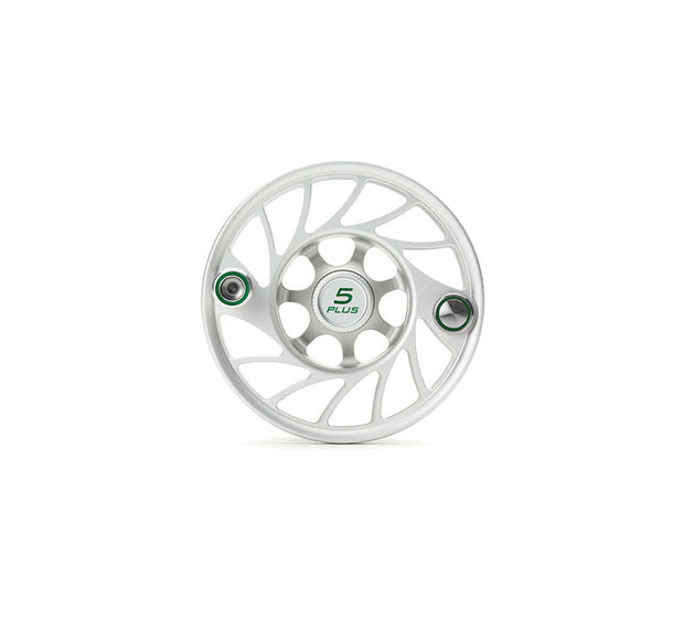 Hatch Finatic Gen 2 5 Plus Extra Spool with Clear body and Green Paint Fill, Mid Arbor